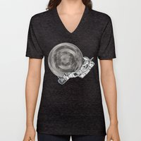 Troubled Moons And Space… Unisex V-Neck