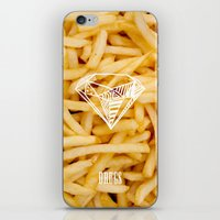 Diamonds & French Fries iPhone & iPod Skin