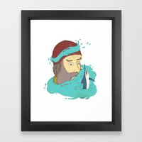 Fisherman's dream Framed Art Print
