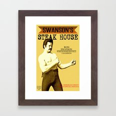 Ron Swanson  |  Steak Ho… Framed Art Print