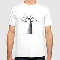 Baobab Mens Fitted Tee White SMALL