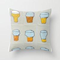 Beer Diary. Throw Pillow