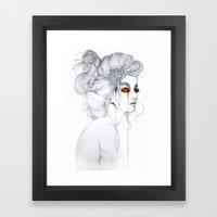 The Girl // Fashion Illu… Framed Art Print
