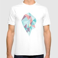 Facet vector II Mens Fitted Tee White SMALL