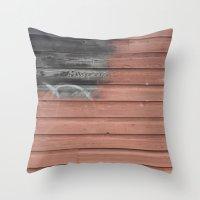 Red Vs. Black Throw Pillow