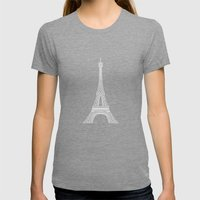 Paris Womens Fitted Tee Tri-Grey SMALL