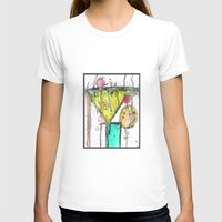Dirty Martini Womens Fitted Tee White SMALL