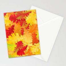 Autumn oak leaves Stationery Cards
