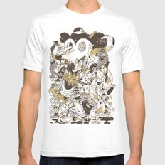 con$umer White SMALL Mens Fitted Tee