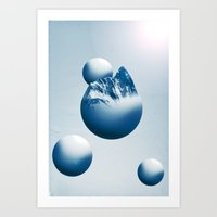 Ice Mountain Planet Art Print
