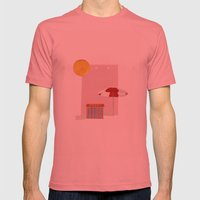 on holiday Mens Fitted Tee Pomegranate SMALL