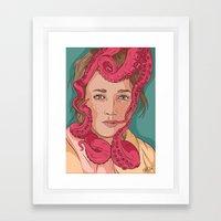 Tentacle Illustration Framed Art Print