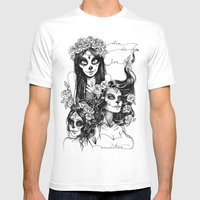 Dia De Los Muertos Mens Fitted Tee White SMALL