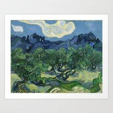 Olive Trees By Vincent V… Art Print