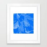 Intimate blue Framed Art Print