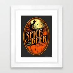 Spice Beer Label Framed Art Print