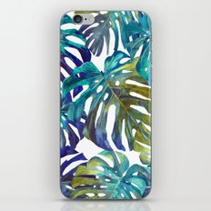 Watercolor leaves iPhone & iPod Skin
