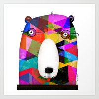 BEAR SPECTACLES Art Print