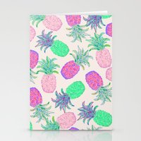 Pineapple Pandemonium Pi… Stationery Cards