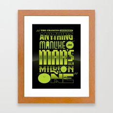 A Million To One Framed Art Print