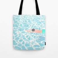 SWIMMING ALONE Tote Bag