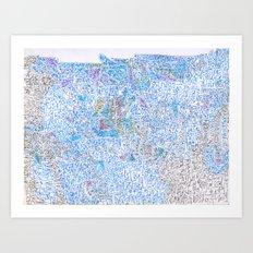 doomsday in blue Art Print