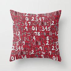 math doodle red Throw Pillow