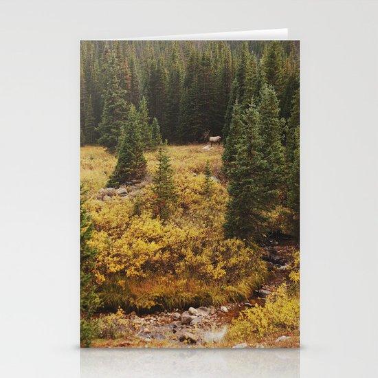 Rocky Mountain Creek Elk Stationery Card
