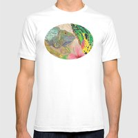 Beauty and the Butterfly Mens Fitted Tee White SMALL