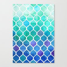 Emerald & Blue Marrakech Meander Canvas Print