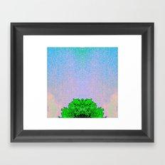 Glitch art treetop 1 Framed Art Print
