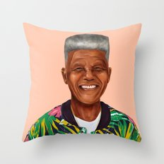 Hipstory - Nelson Mandel… Throw Pillow