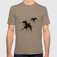 On your fears,  ... swallow them.   Mens Fitted Tee Tri-Coffee SMALL