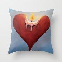 Burning Passion Throw Pillow