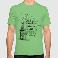 Tous Les Chemins... Mens Fitted Tee Grass SMALL
