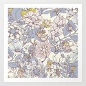 Garden party - jasmine tea version Art Print