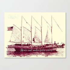 Never sail under false colors Canvas Print