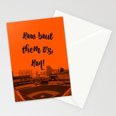 How bout them O's black text Stationery Cards
