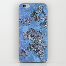 tropical floral world map 3 iPhone & iPod Skin