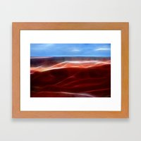 Artistic red Desert Framed Art Print