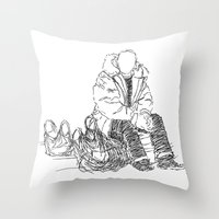 Just Sitting Down Throw Pillow