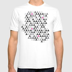 geo White Mens Fitted Tee SMALL