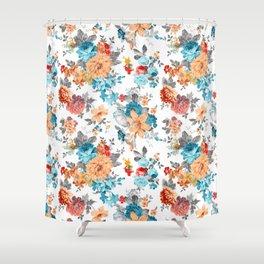 Shower Curtain - Seamless Floral Pattern - Eduardo Doreni