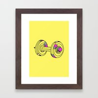 MY.DAILY.WORKOUT Framed Art Print
