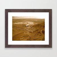 Sunset Desert Part II Framed Art Print