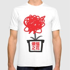 Flower of frustrations SMALL Mens Fitted Tee White