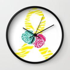 Endometriosis Ribbon 2 Wall Clock