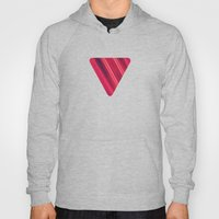 Moder Red / Black Stripe  Abstract Stream Lines Textuer Design  Hoody