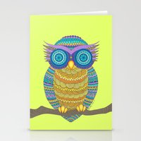 Henna Owl Stationery Cards