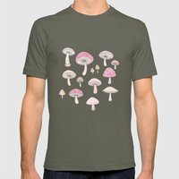 Mushrooms and Toadstools Mens Fitted Tee Lieutenant SMALL